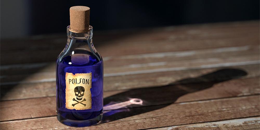 危険な成分が入ったボトル