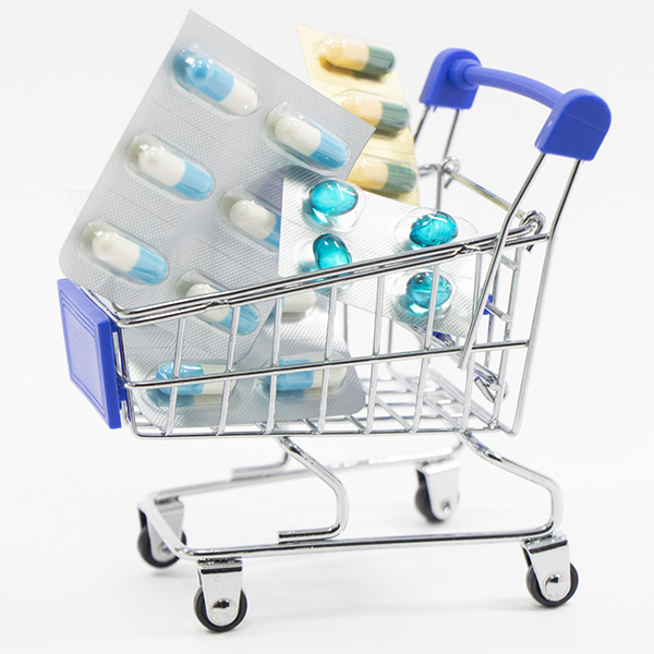 ショッピングカートに入った薬